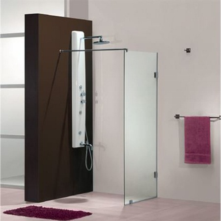 Jaquar iara 1810 s frameless shower enclosure price for Walk in shower plans and specs