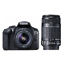 Canon EOS 1300D Double Zoom EF S18-55 IS II and EF S55 250