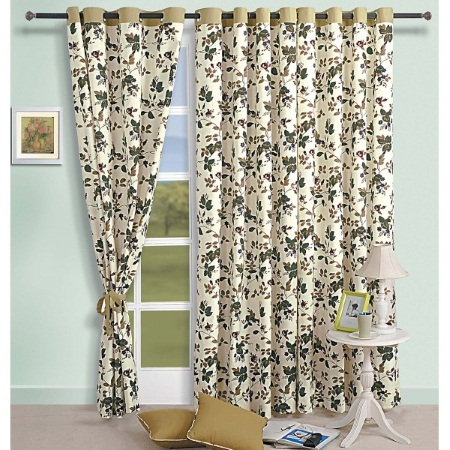 Swamayam 619 Eyelit Window Printed Curtains Price