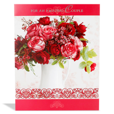 Archies Couple Floral ANN00043 Anniversary Greeting Card