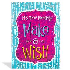 Archies Make A Wish BDY02425 Birthday Greeting Card