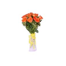 Archies Orange Rosy Delight PRE59 Flower Bouquet