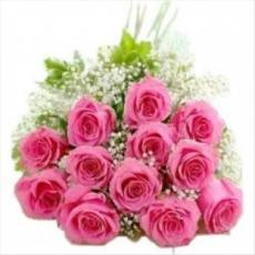 Archies Pink Dozen 129M Flower Bouquet