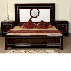 Durian NOBLE 57402 King Bed Black Silver Cots