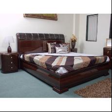 Durian QIAOX 33401 King Bed Dark Brown Cot