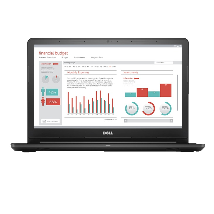 Dell Vostro 15 3568 A553107UIN9 1 TB HDD 2 GHZ 15.6 Inches HD LED Notebook Laptop