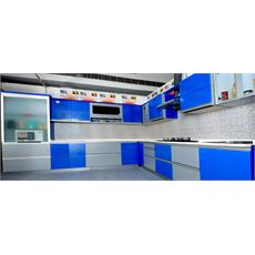 Royal Blue Italian L Shaped Kitchen Price Specification